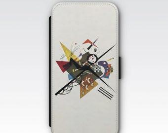 Wallet Case for iPhone 8 Plus, iPhone 8, iPhone 7 Plus, iPhone 7, iPhone 6, iPhone 6s, iPhone 5/5s -  On White II by Wassily Kandinsky