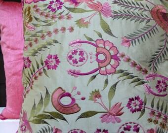 Taupe Silk Cushion
