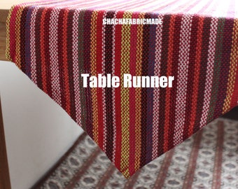 Tribal Table Runner Bohemian Tablecloth Aztec Table Runner Colorful Striped