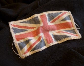"6"" Retro Vintage BRTITISH Flag Patch - Make new clothes look vintage or breath new life into old clothing."