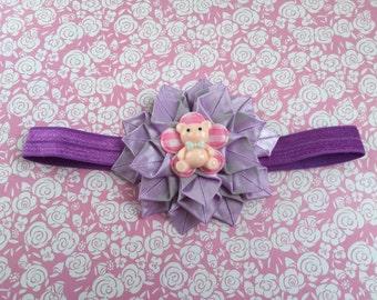 Handmade Purple Dahlia flower headband