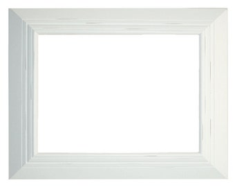 white frame- frame for art- hand made frame- 16x20 art frame- wood frame- frame for cork board- frame for chalkboard- distressed frame