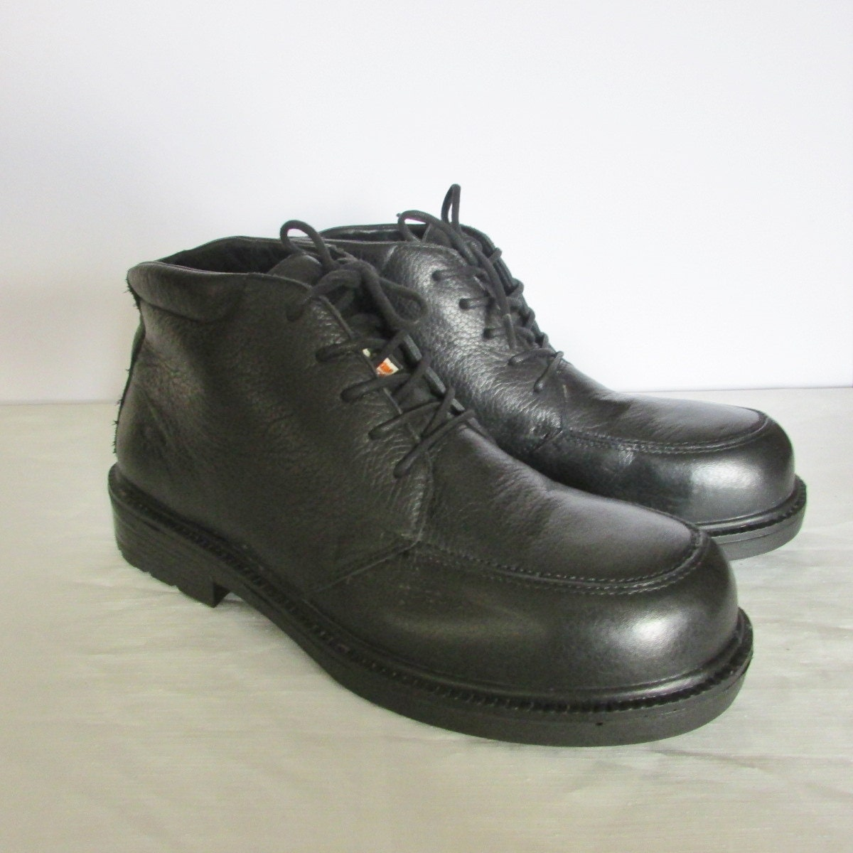 dakota mens size 10 5 wide black leather work boots safety