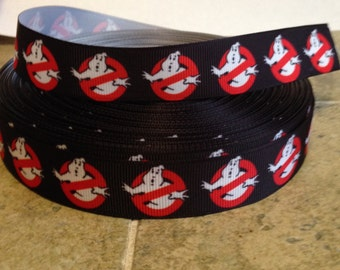 3 yards grosgrain ribbon 7/8 inch wide - Ghost Busters