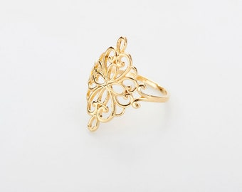 Filigree Ring , romantic ring, Gold Filled Ring, Gold  Ring, bridal gift, anniversary gift, under 30