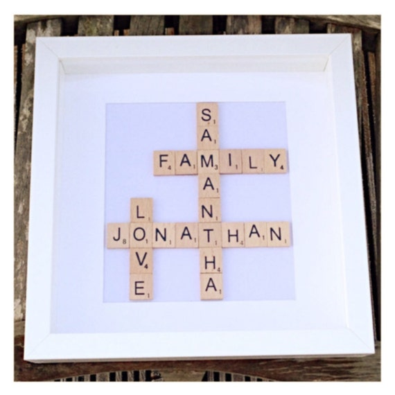 Wedding Gift Wall Art: Personalised Scrabble Wall Art Custom Wedding Gift Scrabble