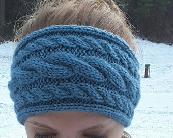 Triple-Cabled Knit Headband/Ear-warmer