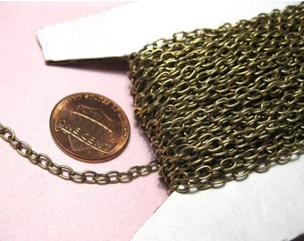 30 Ft /Spool Antique Bronze Cable Chains Links-Opened 3.5x2.5mm Links-Opened  (No.918)