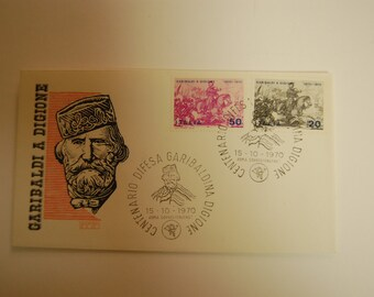 Italy-First Day Cover-1970-Garibaldi A Digione-2 Stamp Set