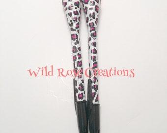 Duct Tape Pen- Pink/black/white cheetah