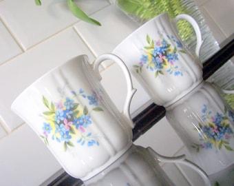 Duchess Bone China Mug / Beaker Forget me knot / Blue Flowers