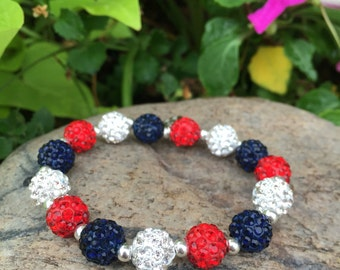 Red, white and Navy Shelby bracelet
