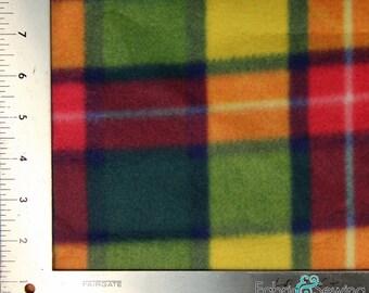 "Colorful Cubes Anti-Pill Polar Fleece - Plush Fabric Polyester 13 Oz 58-60"""