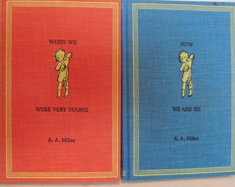 Winnie The Pooh Vintage Set of Two: When We Were Very Young, Now We Are Six by A.A.Milne