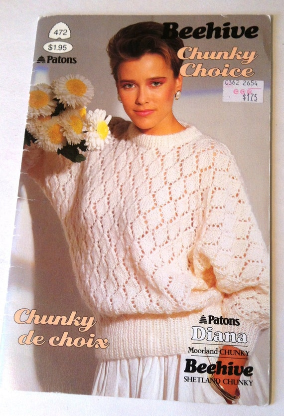 Patons Chunky Knitting Patterns : Patons Beehive Chunky Choice 1985 Knitting Patterns
