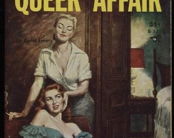 Lesbian Vintage Pulp A4 Poster (A Queer Affair)
