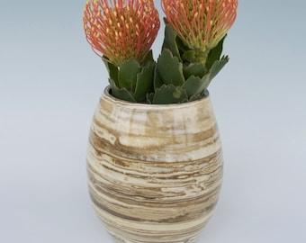 Large Marbled Vase