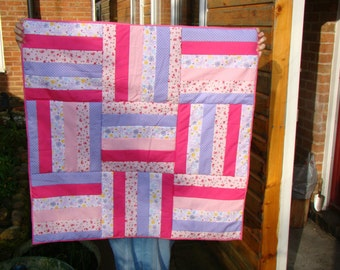 patchwork quilt throw pinks girly