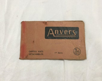 Anvers Belgium Postcard Booklet of 10 Unused cars cir 1910 Europe