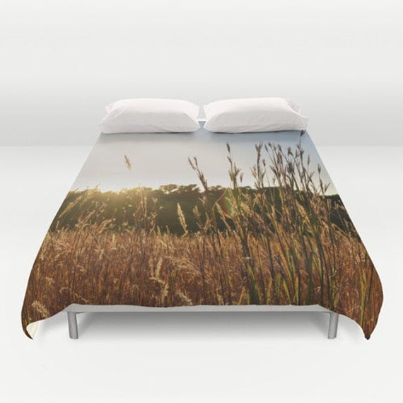 Duvet Cover, Nature Photography, Nebraska Art, Bedroom Decor, King Duvet, Queen Bedding, Full Bedspread, Twin Bed Cover, Grassland Images
