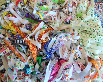 Grab Bag of Printed Fold Over Elastic for Headbands - 5 10 15 20 50  Yards of 5/8 inch FOE - Sold By The Yard Boutique Shop Supplies -