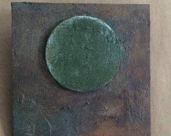 circle in a square - bronze