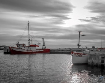 Fishing Boat Photography - Selective Color Wall Decor, Boat Decor, Fine Art Photo - Newfoundland Picture - 028