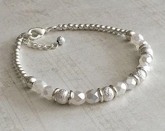 June Birthstone Bracelet, Pearl Bracelet, June Bracelets, Pearl Birthstone Bracelet, Pearl Bead Bracelet, Pearl Bracelet, Pearl Beads