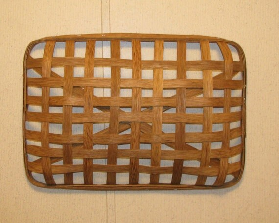Wall decor baskets : Rectangle tobacco basket for wall decor by