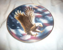 """the American Eagle plate 1991 franklin mint limited 8 1/4"""" from estate,check my sales for many more pieces"""