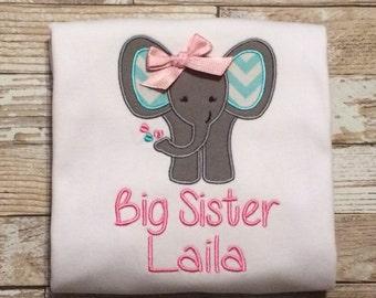 Elephant Big Sister Shirt