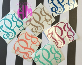"2"" or 3"" Decal Monogram"