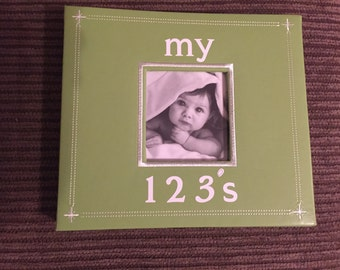 Homemade 123 Numbers Book for Baby Boy
