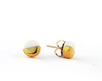 tiny orb earrings
