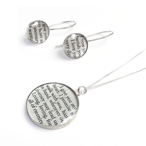 1st Year Anniversary Gift for Her / Personalized Jewelry with your ...