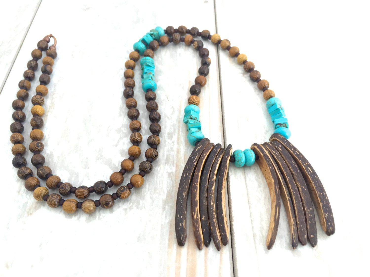 bohemia necklace jewelry coconut shell necklace