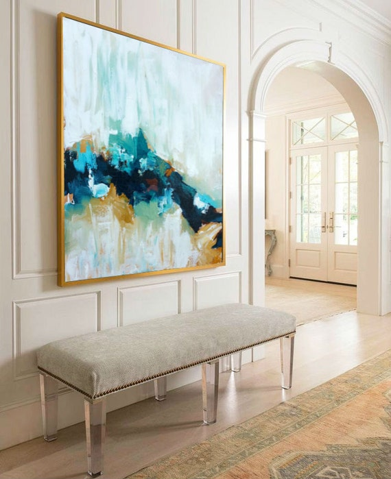 large original painting hand made abstract art acrylic. Black Bedroom Furniture Sets. Home Design Ideas