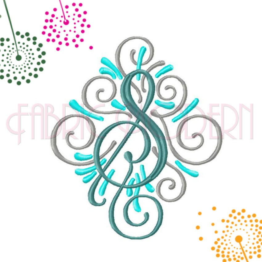 adorn three color monogram embroidery font design  6 inch  all letters includes bx   686 from