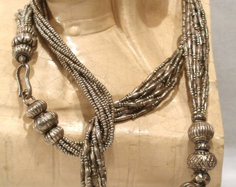 Sterling Pure .999 Hill Tribe Necklace Collection Designed by Queen Sirikit Thailand