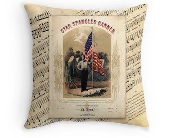 Army Pillow, Army Decor, Patriotic Decor, Military Decor, Patriotic Pillows, Star Spangled Banner, American Decor, Americana, Vintage Decor