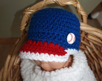 newborn Cleveland Indians babeball hat, baby Cleveland Indians baseball hat, baby Cleveland Indians photo prop, ready made baby baseball hat