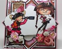 Bootylicious pirate girl card