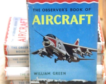 Vintage 1967 Observer's Book of Aircraft- William Green