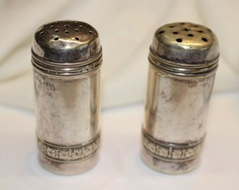 Vintage Silver Salt & Pepper Shakers