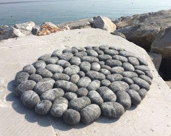 Felt Carpet Supersoft Pebbles Felt Stone Carpet By Flussdesign