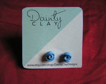 Polymer Clay Rose Earrings