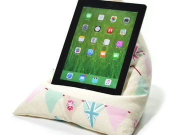eBean Tablet Cushion - BUNTING - Bean Bag Suitable for all iPads / Tablets