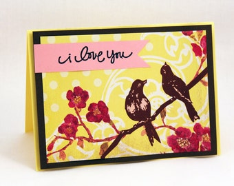 Charming Love Birds Card