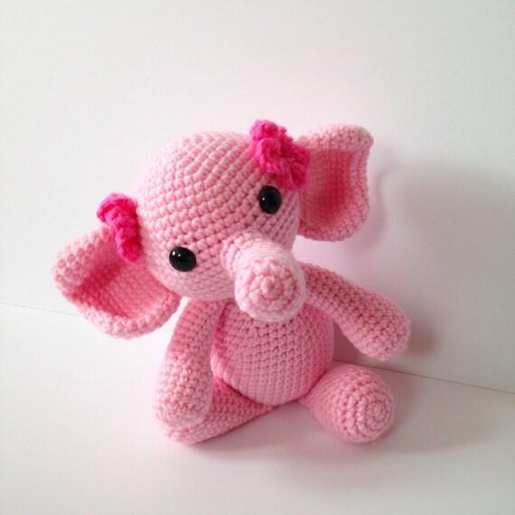 Amigurumi Elephant Crochet Elephant Stuffed Toy Kids Toy Pink