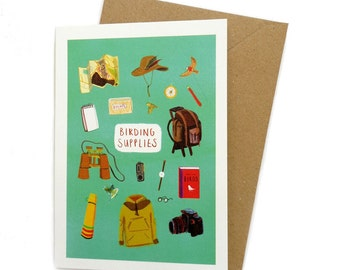 Birding Supplies – A6 Card – Bird watching chart